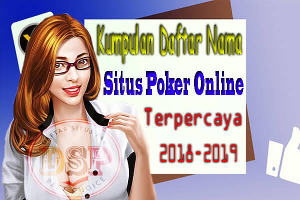 nama situs poker online